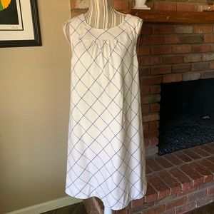 Anthropologie Maeve Sleeveless Shift Dress Silk 12
